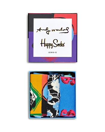 Happy Socks - Warhol Skull Gift Box - Pack of 3