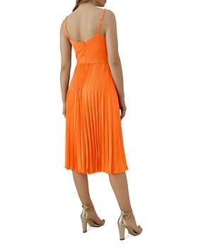 KAREN MILLEN - Chain-Trim Pleated Dress