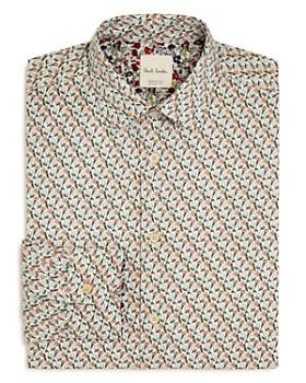 Paul Smith - Gents Tulip Print Regular Fit Dress Shirt