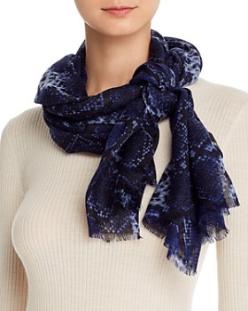 Bloomingdale's - Snake Print Wool Scarf - 100% Exclusive