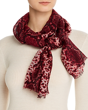 Bloomingdale\\\'s Snake Print Wool Scarf - 100% Exclusive-Jewelry & Accessories
