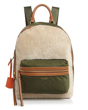 Tory Burch - Perry Shearling Backpack