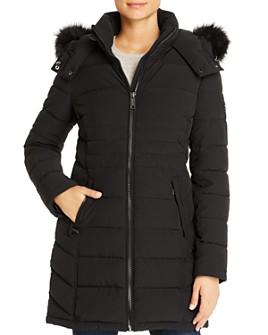 Calvin Klein - Faux Fur-Trim Puffer Coat