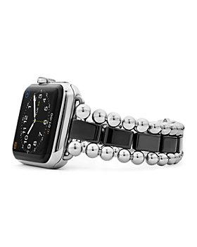 LAGOS - Black Ceramic Smart Caviar Apple™ Watch Band, 38mm-42mm