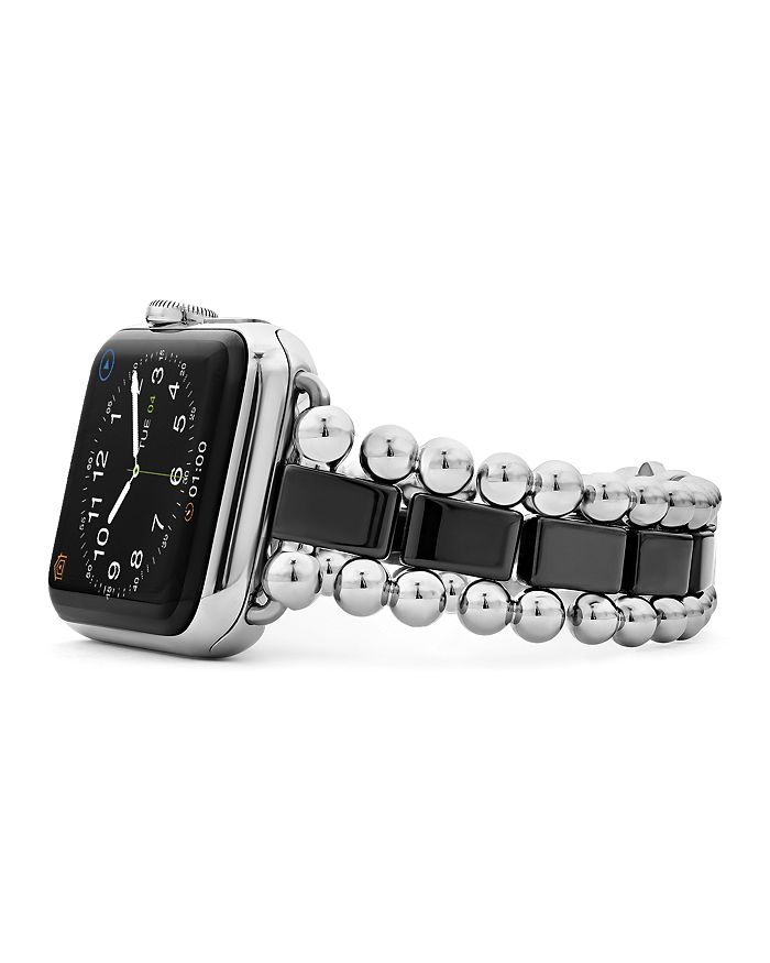 LAGOS - Black Ceramic Smart Caviar Apple™ Watch Band, 38mm-42mm