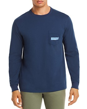 Vineyard Vines - Long-Sleeve Paddle Box-Logo Graphic Pocket Tee