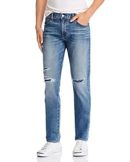 S.M.N Studio - Hunter Straight Slim Fit Jeans in Baker