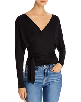 Elan - Long-Sleeve Wrap Top