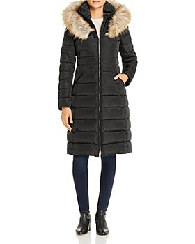 Laundry by Shelli Segal - Faux Fur-Trim Puffer Coat
