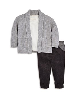 Miniclasix - Boys' Open Cardigan, Tee & Pants Set - Baby