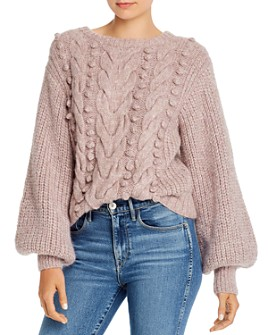 Eleven Six - Charlotte Alpaca-Blend Mixed-Knit Sweater