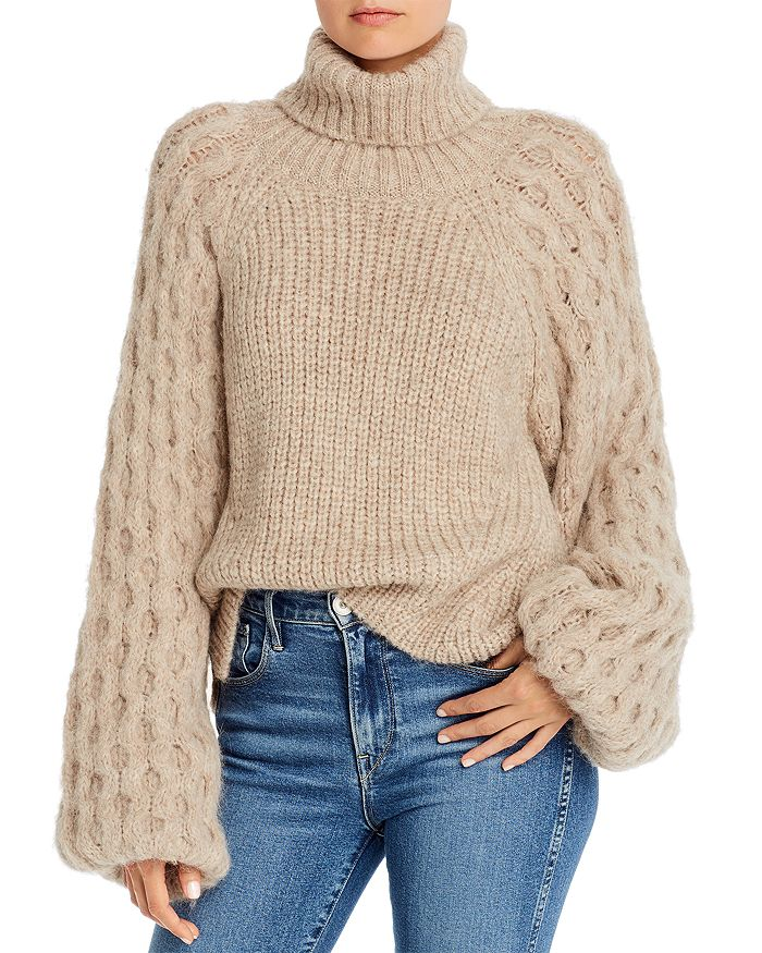 Eleven Six - Nina Alpaca-Blend Balloon-Sleeve Sweater