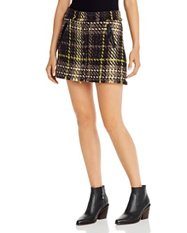 Ramy Brook - Elias Fringed Plaid Skirt
