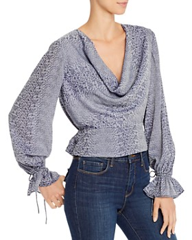 Finders Keepers - Catalina Abstract Snakeskin-Print Top