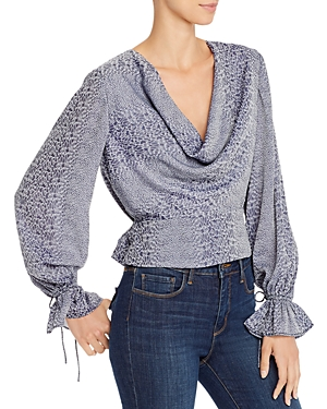 Finders Keepers Catalina Abstract Snakeskin-Print Top