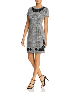 KARL LAGERFELD Paris - Tweed Lace-Trim Dress