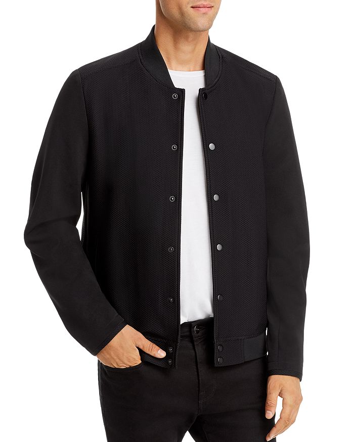 KARL LAGERFELD PARIS - Water-Resistant Regular Fit Bomber Jacket