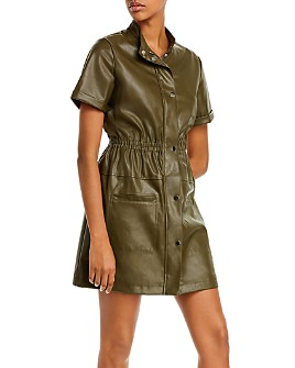 Lucy Paris - Faux Leather Utility Dress - 100% Exclusive