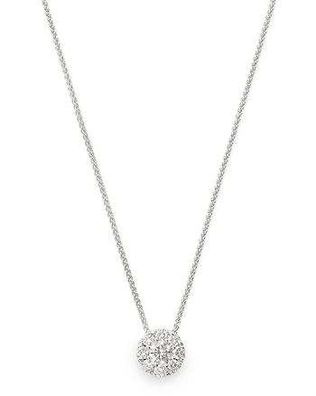 Bloomingdale's - Cluster Diamond Pendant Necklace in 14K White Gold, 0.33 ct. t.w. - 100% Exclusive