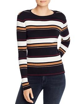 FRAME - Striped Rib-Knit Sweater