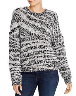 Current/Elliott - The Cybill Zebra-Stripe Sweater