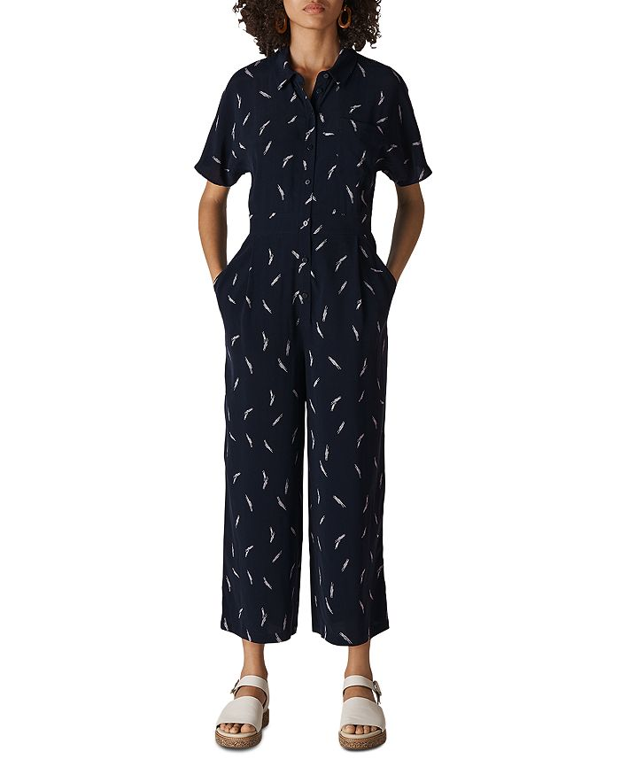 Whistles - Short-Sleeve Printed Jumpsuit