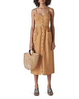 Whistles - Milana Linen Tie-Back Dress