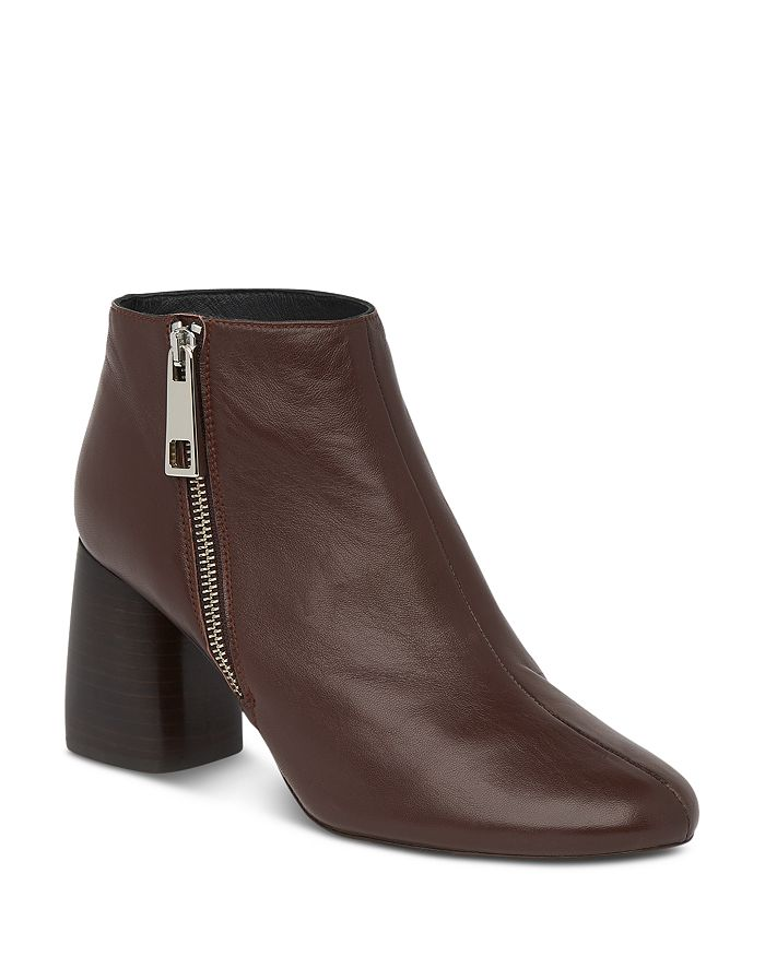 Whistles Women's Pippa Block Heel Ankle Boots In Brown