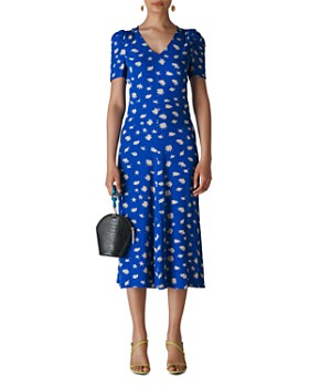 Whistles - Jolanta Daisy-Print Midi Dress
