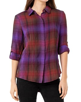 Liverpool Los Angeles - Plaid Button-Down Shirt