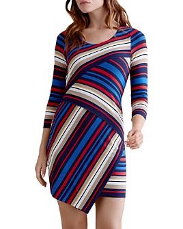 Bailey 44 - Asymmetric Tiered Striped Dress