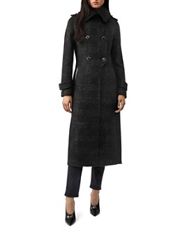 Mackage - Elodie Shimmer Double-Breasted Button Front Coat