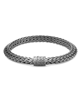JOHN HARDY - Sterling Silver Classic Chain Bracelet with Black Rhodium