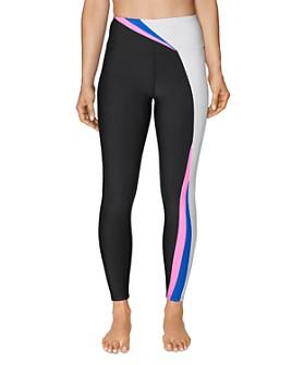 Betsey Johnson - High-Rise Color-Block Leggings