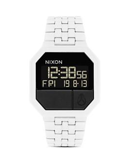 Nixon - Re-Run White Link Bracelet Watch, 38.5mm x 38.5mm