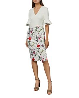Ted Baker - Wesa Bell-Sleeve Floral Dress