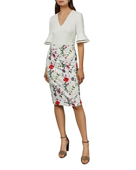 Ted Baker - Wesa Bell-Sleeve Floral Dress