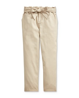 Ralph Lauren - Girls' Belted Paperbag Pants - Big Kid