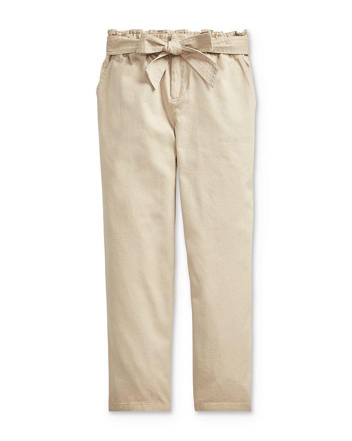 Ralph Lauren POLO RALPH LAUREN GIRLS' BELTED PAPERBAG PANTS - BIG KID