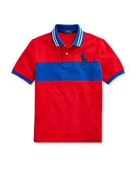 Ralph Lauren - Boys' Color-Block Big Pony Polo Shirt - Big Kid