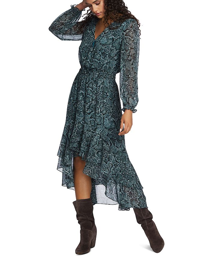 1.STATE - Snake-Print High/Low Maxi Dress