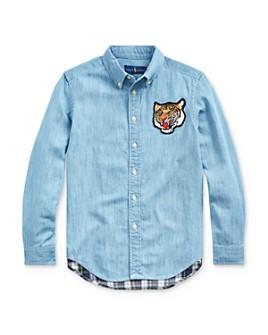 Ralph Lauren - Boys' Chambray & Plaid Button-Down Shirt - Big Kid