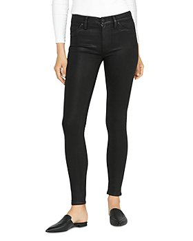 Hudson - Barbara High Rise Super Skinny Jeans in Noir Coated 3