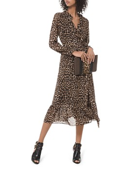 MICHAEL Michael Kors - Animal-Print Midi Wrap Dress