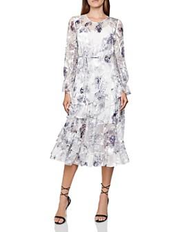 REISS - Annabell Silk Blend Floral Dress