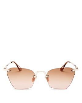 Le Specs Luxe - Women's Pit Stop Rimless Square Sunglasses, 53mm