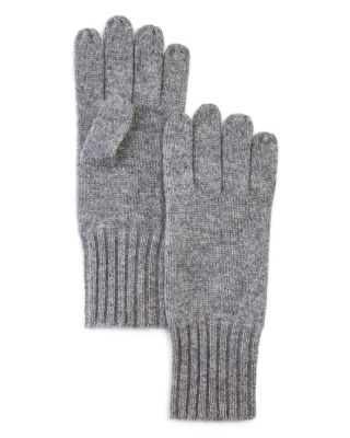 Heart Embroidered Mittens fleece lining Heather Grey