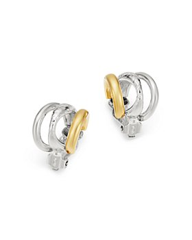 IPPOLITA - Sterling Silver & 18K Yellow Gold Chimera Clip-On Huggie Earrings