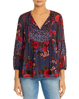Daniel Rainn - Printed Tie-Neck Blouse