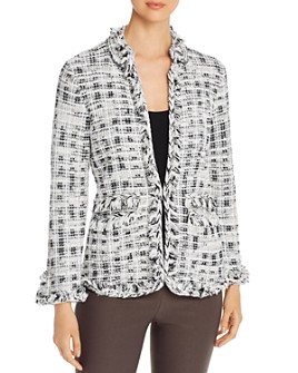 NIC and ZOE - Fringe-Trim Tweed Jacket
